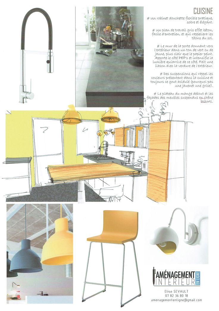 http://www.amenagement-interieur-en-ligne.com/ #cuisine