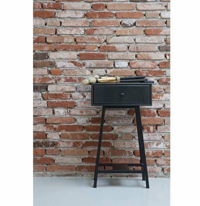 BePureHome Sidetable Skybox Zwart - 45x30xH70 cm - Sweet Living Shop