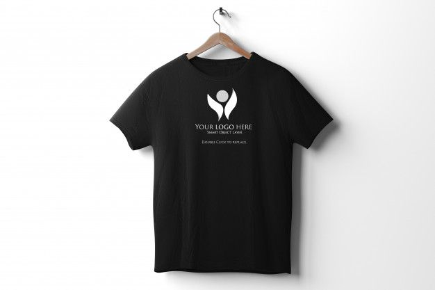 Download View Of A Black T Shirt Mockup Shirt Mockup Black Tshirt Tshirt Mockup