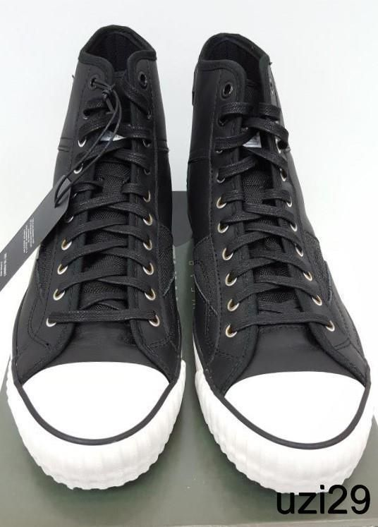 NIB G Star Raw Falton Hi Top Contemporary Sneakers Black,Buffed Leather & Cotton #GStarRaw #FashionSneakers