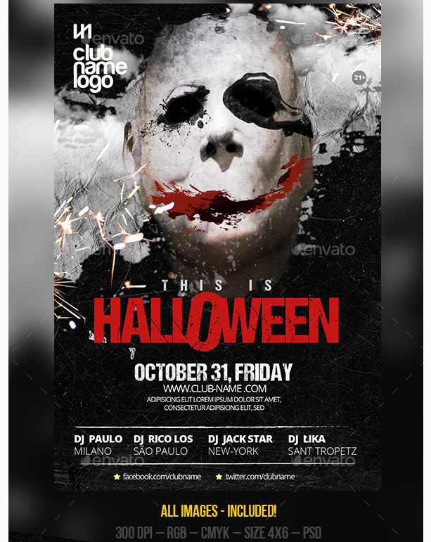26 best Halloween Party Flyer Template images on Pinterest - emerald flyer template