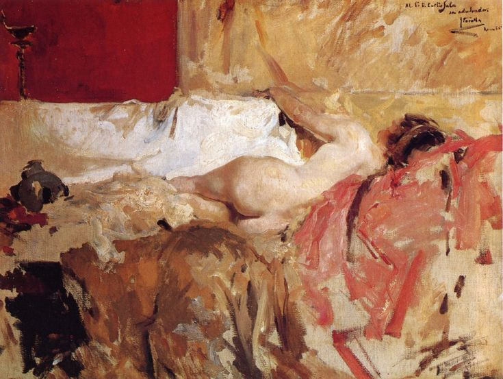 Bacchante Joaquin Sorolla y Bastida - 1886 Owner/Location:	 Museo de Arte de Ponce (United States) Dates:	 1886 Artist age: Approximately 23 years old. Dimensions:	 Height: 60 cm (23.62 in.), Width: 75 cm (29.53 in.) Medium:	 Painting - oil on canvas	 #sorolla