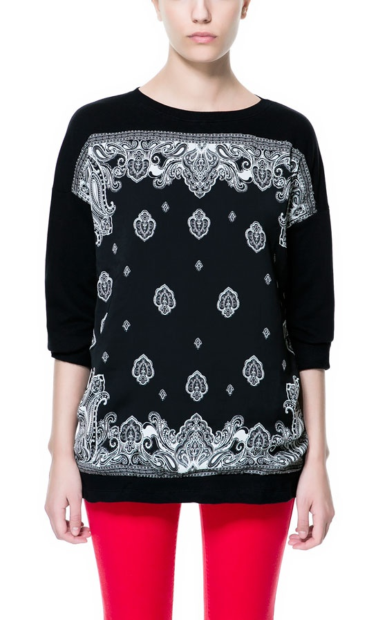 "Zara ""foulard"" sweater."