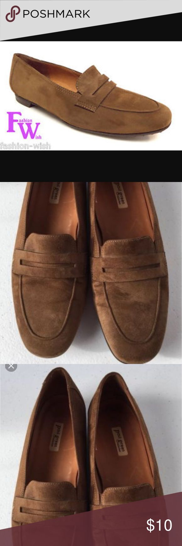 Paul Green Brown Suede Penny Loafers Never worn! Paul Green Brown Suede Penny Loafers. Size 8. Comfortable. True to size Paul Green Shoes Flats & Loafers