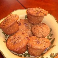 Six Week Bran Muffins ~Allrecipes.com  106 calories per serving (makes 18 dozen) ~ batter can be kept in refrigerator for 6 weeks, so you can have FRESH muffins every day!