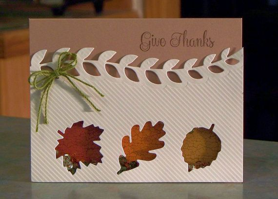 Some fall fun....shake, shake, shake and shake some more!  The card measures 5 1/2 x 4 1/4 and was made using card stocks, stamp sets, dies, inks & sequins from Stampin Up. I love the fall colors sequins! I also used some items from their Season of Gratitude Paper Pumpkin Kit  The cream colored panel has textured striping, with the die cut windows shaped like leaves and I also die cut the top border. The entire panel is popped with fun foam, backed with clear acetate and mounted onto the…