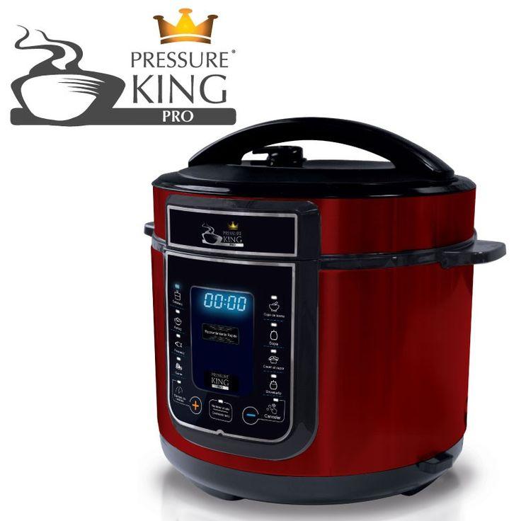 PRESSURE KING  ¡La olla a presión digital con 8 tipos de cocción, todo en 1!  Pressure King Pro es la olla a presión eléctrica multifuncional que cocina de manera segura, fácil, variada y mucho más rápida que algunos métodos de cocción convencionales.