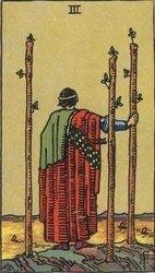 el tres de bastos, tarot, videncia, tirada del tarot, consultas de tarot,. horoscopos, tarotista desde casa tarotista particular