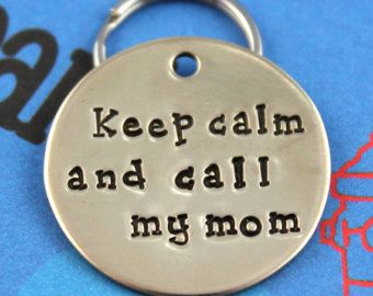 Custom Dog Tag Unique Pet ID Tag Handstamped Nu by critterbling