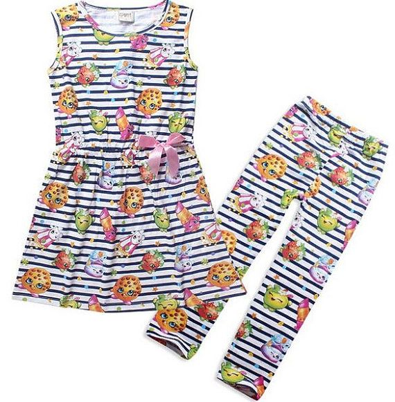 Shopkins Party Outfit Stripes by PartyPrincessCouture on Etsy