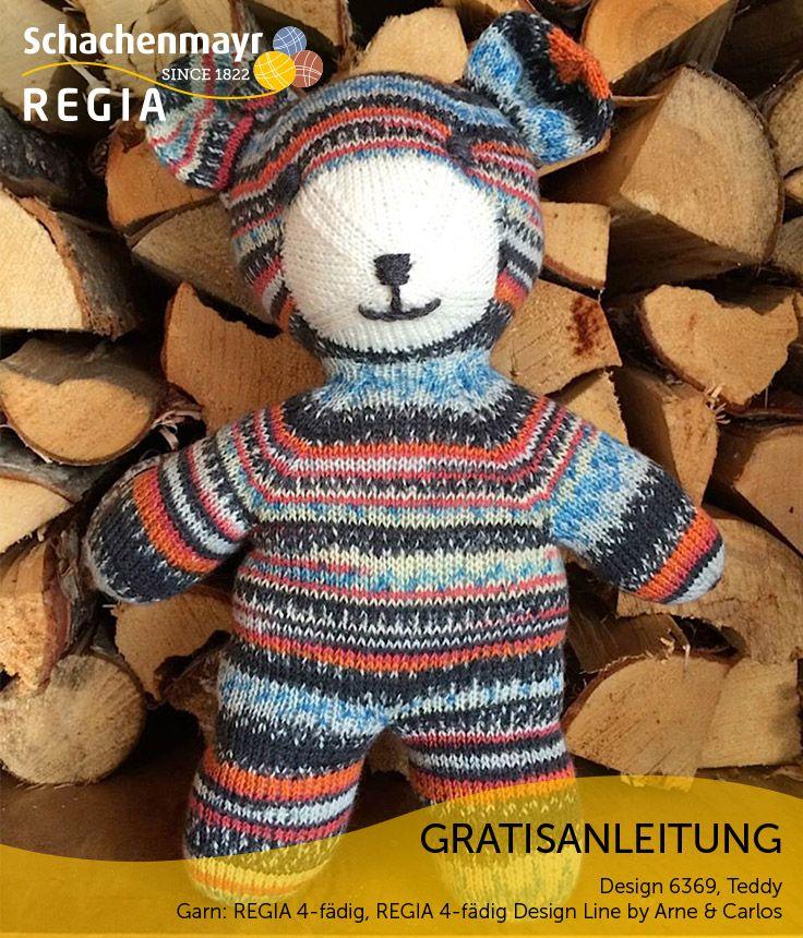 Ein lustiger Kamerad ist dieser Teddy aus Regia Design Line by Arne & Carlos und Regia Uni. Seine peppigen Streifen ziehen sich über den ganzen Körper, lediglich die Schnauze ist streifenfrei. Dieser Teddy macht jedes Abenteuer mit!