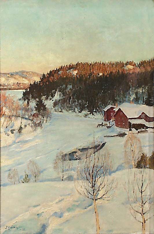 Pekka Halonen: Evening Mood - Iltatunnelma, 1896.
