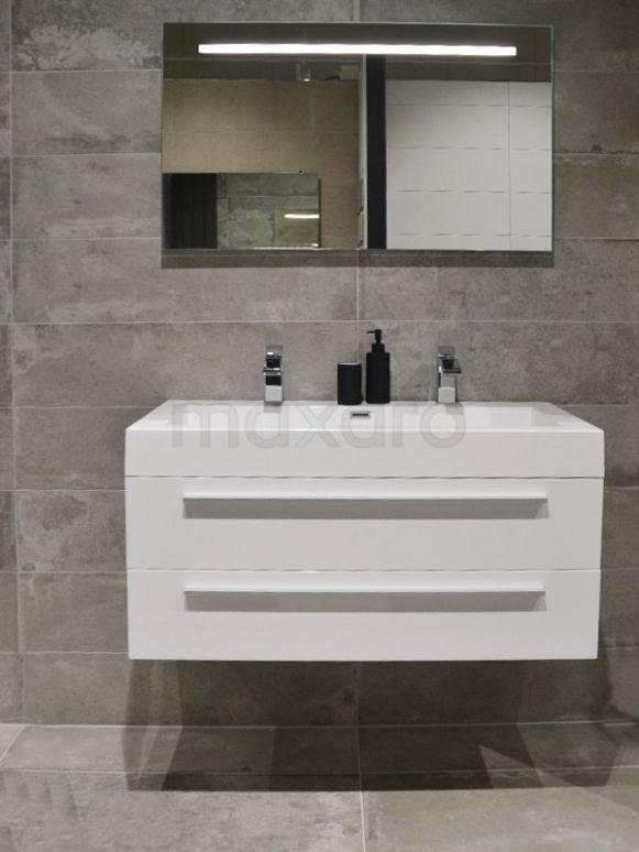 Betonlook badkamer, badkamer ideeën, badkamer tegels