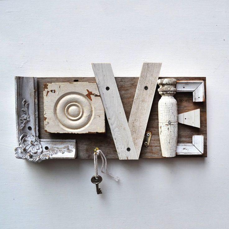 """porta-chave """"love"""" decoração"""