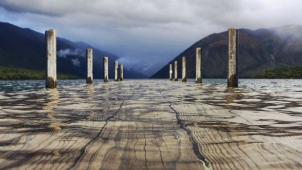 """Nelson's Lake Rotoiti rose after Wednesday's """"bomb low""""."""