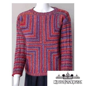 mitered square | Four Square Mitered Pullover Ladies' Knitted Pullover Pattern by ...
