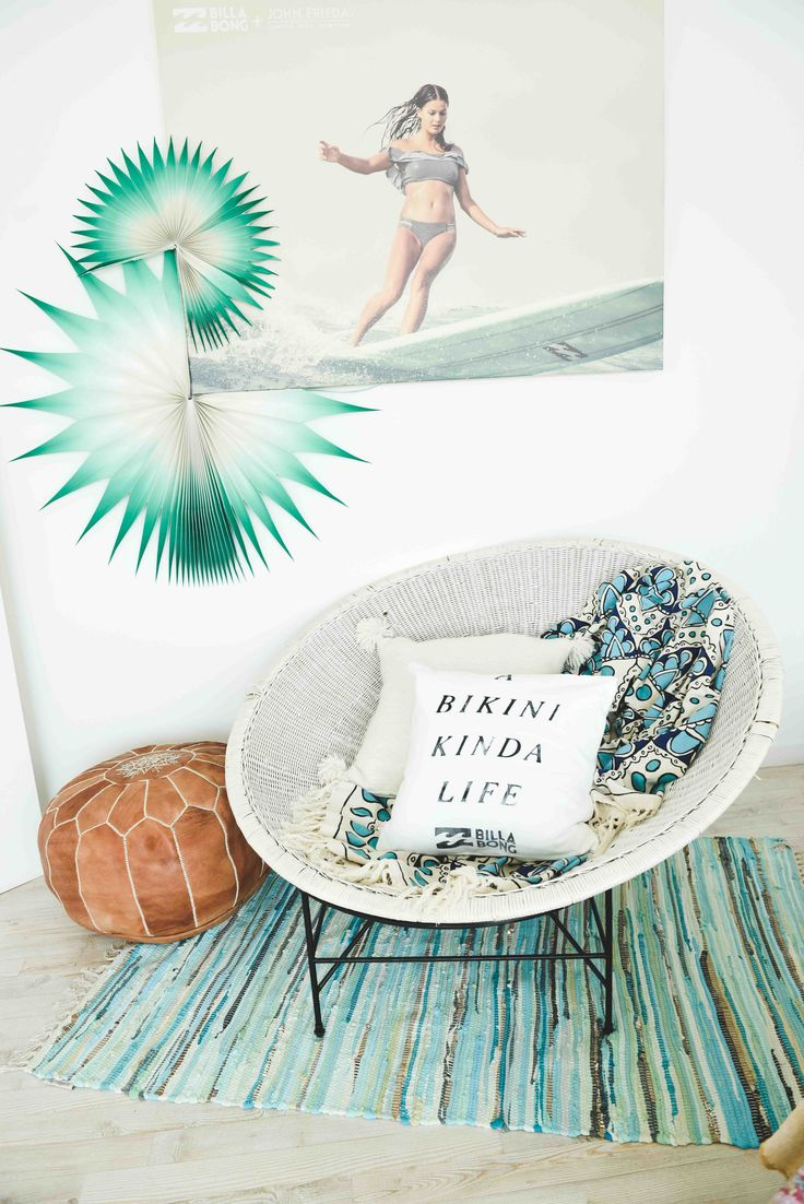 The most inviting chair || Billabong's Summer Surf Party