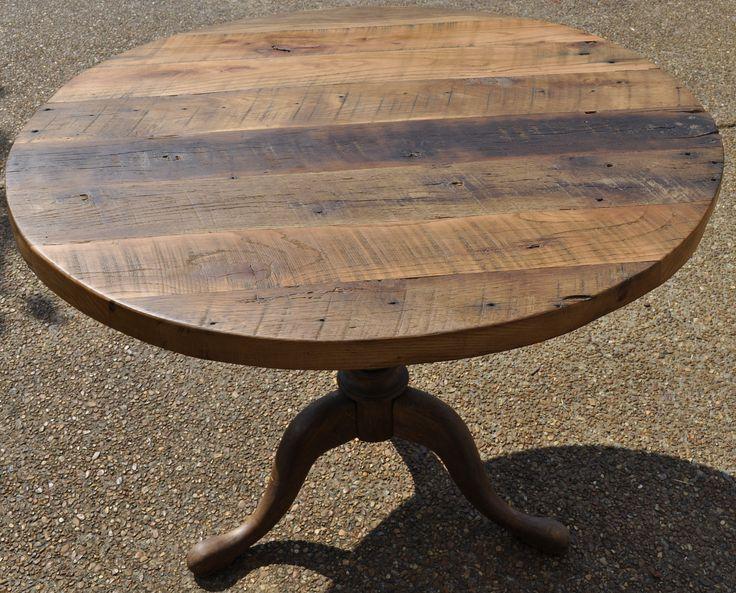 Good Salvaged Wood Round Table Designs