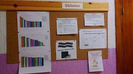 Tablón informativo de la biblioteca del CEIP Marín Ocete de Alfacar