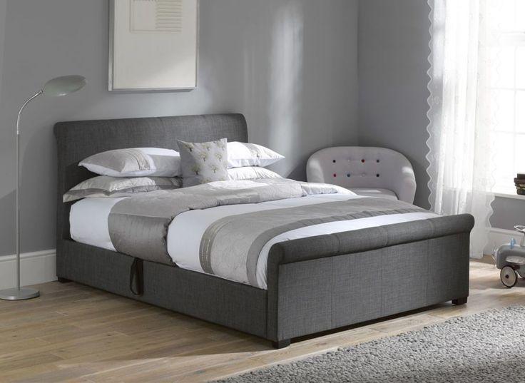 Wilson Grey Fabric Ottoman Bed Frame