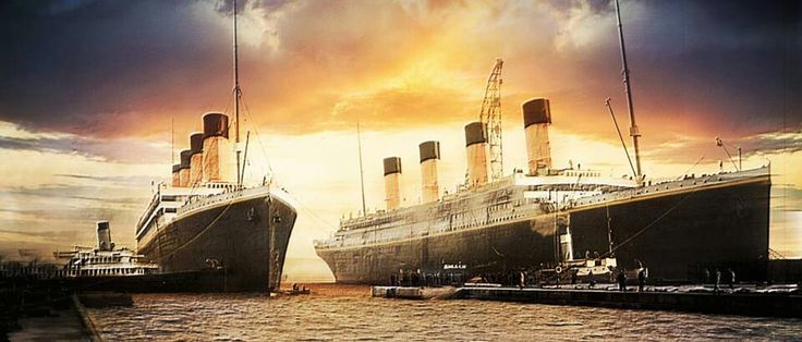 Olympic and Titanic were only together one time