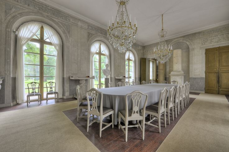 Dining Room - Gustav III's Pavilion (Gustav III:s paviljong) is a royal pavilion at the Haga Park, 2 km north of Stockholm. Photo: Gomer Swahn