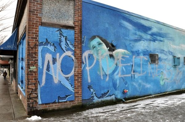 """""""No pipelines"""" graffiti irks Commercial Drive resident"""