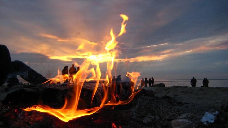 Sunrise in fire at Vama Veche - picture by Simona Neata