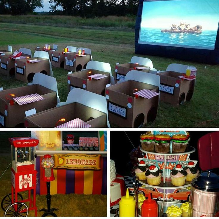 Clover's 1950's Drive In Movie Party  | CatchMyParty.com