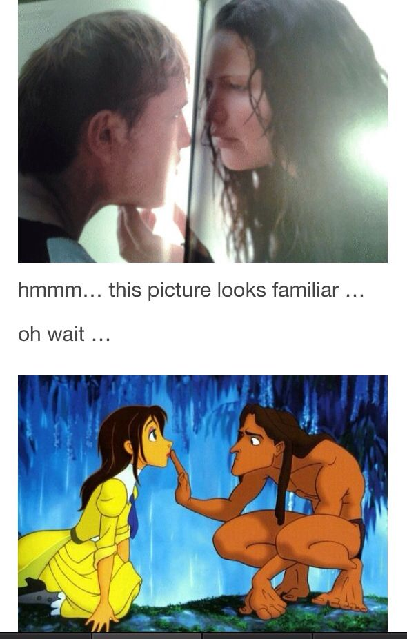Hunger Games / Catching Fire / Peeta / Katniss / Jane / Tarzan / Lol haha funny pics / pictures / Disney Humor / Hunger Games Humor