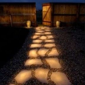 Glow in the dark paint on your garden rocks to create a path.
