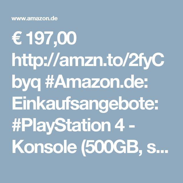 € 197,00 http://amzn.to/2fyCbyq #Amazon.de: Einkaufsangebote: #PlayStation 4 - Konsole (500GB, schwarz,slim) [CUH-2016A]