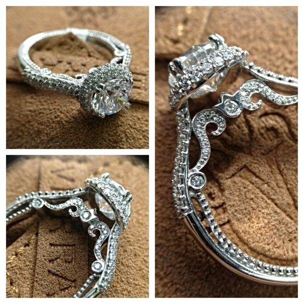 Insignia-7085R with a double diamond halo and Insignia Collection signature styling from @Verragio   Learn more> http://www.verragio.com/Verragio-Engagement-Rings/Insignia-Engagement-Rings/INSIGNIA-7085CU  #EngagementRings