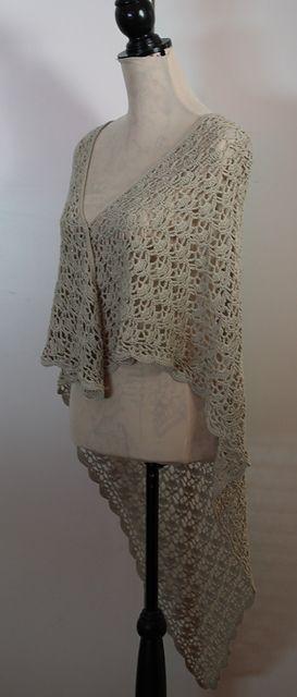 Ravelry: Triangular Lace Shawl with Scalloped Edging pattern by Thomasina Cummings Designs #tcdesignsuk #crochetpattern #mmmakers