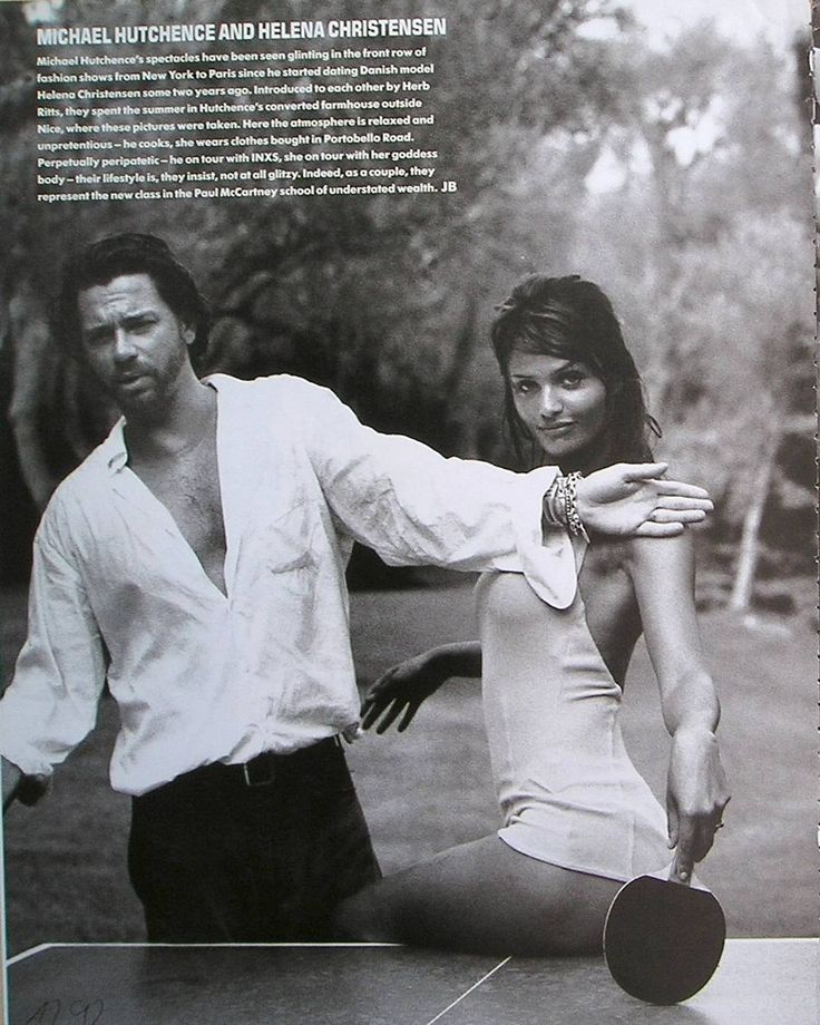 Helena Christensen & Michael Hutchence by Max Vadukul, Vogue Uk December 1992.
