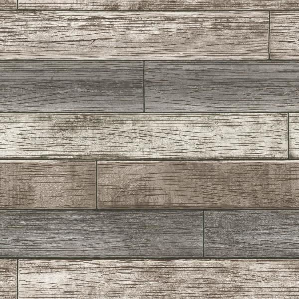 Nuwallpaper Reclaimed Wood Plank Natural Textured Vinyl Strippable Wallpaper Covers 30 75 Sq Ft Nu1690 The Home Depot In 2020 Wood Plank Wallpaper Peel And Stick Wallpaper Peel And Stick Wood