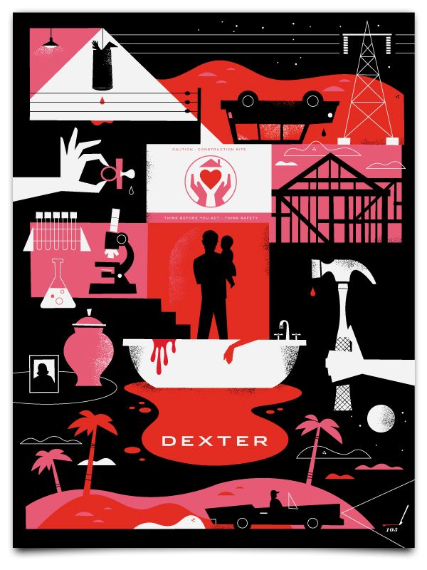 Dexter Poster....Looks so sweet until you realize he's serial murderer