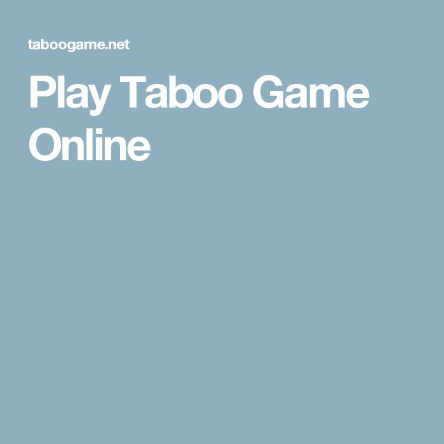 Play Taboo Game Online