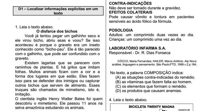 Apostila de Portuguýýs ýýý 5ýý ano. Procedimentos de leitura.pdf