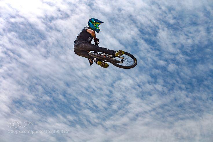 Bike Jump - Up in the Air by TeddyKstelknows