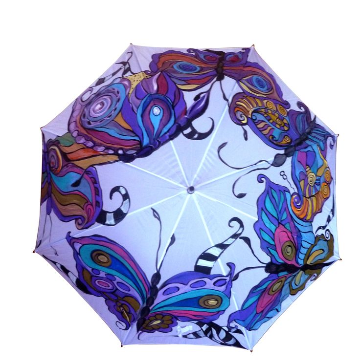 Butterfly s Umbrella - hand painted by Mira