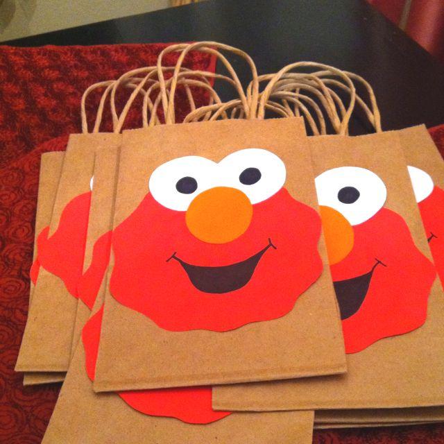 Elmo Birthday party favor sacks