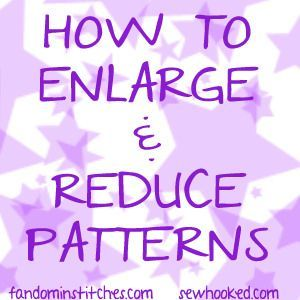 Happy Saturday everyone! We've got a bonus post for you today to help with one of the most persistent questions we receive here at Fandom In Stitches: How do I resize a pattern? The easiest way to ENL