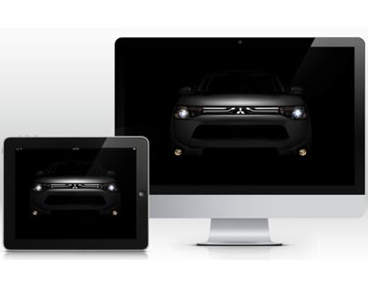 """Check out new work on my @Behance portfolio: """"2014 Mitsubishi Outlander Reveal"""" http://on.be.net/13URlRb"""