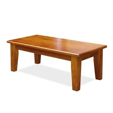 Alford Solid Pine Coffee Table In Blackwood
