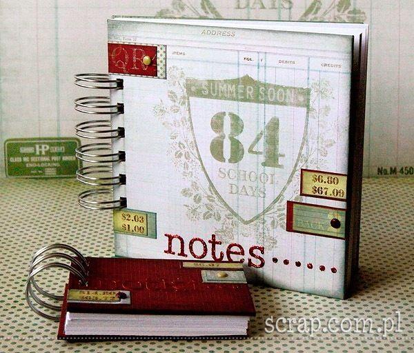 zestaw notesów szkolnych na bazach LM