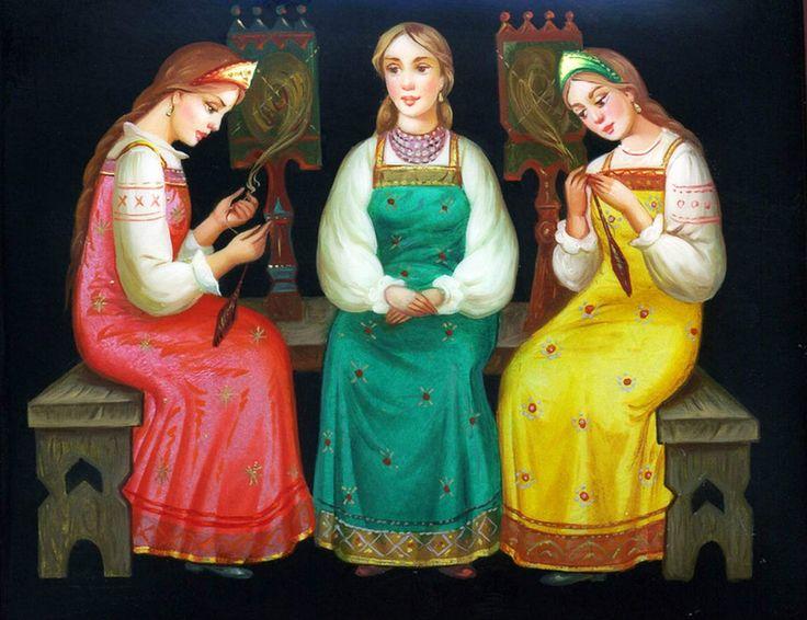 Открытка дню, картинки на тему три девицы под окном