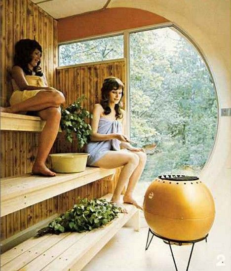 Venturo prefab sauna, c. 1971 / by Matti Suuronen (the 70's were pretty cool actually:P)