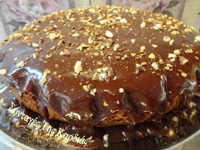 Cake with nutella and yogurt - Κέικ με μερέντα και γιαούρτι