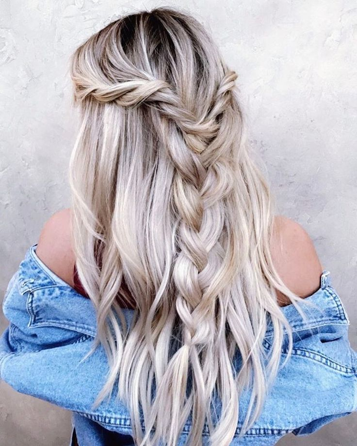 Braid silver grey hair
